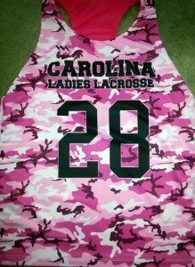 Girls Sublimated Lacrosse Pinnies camouflage