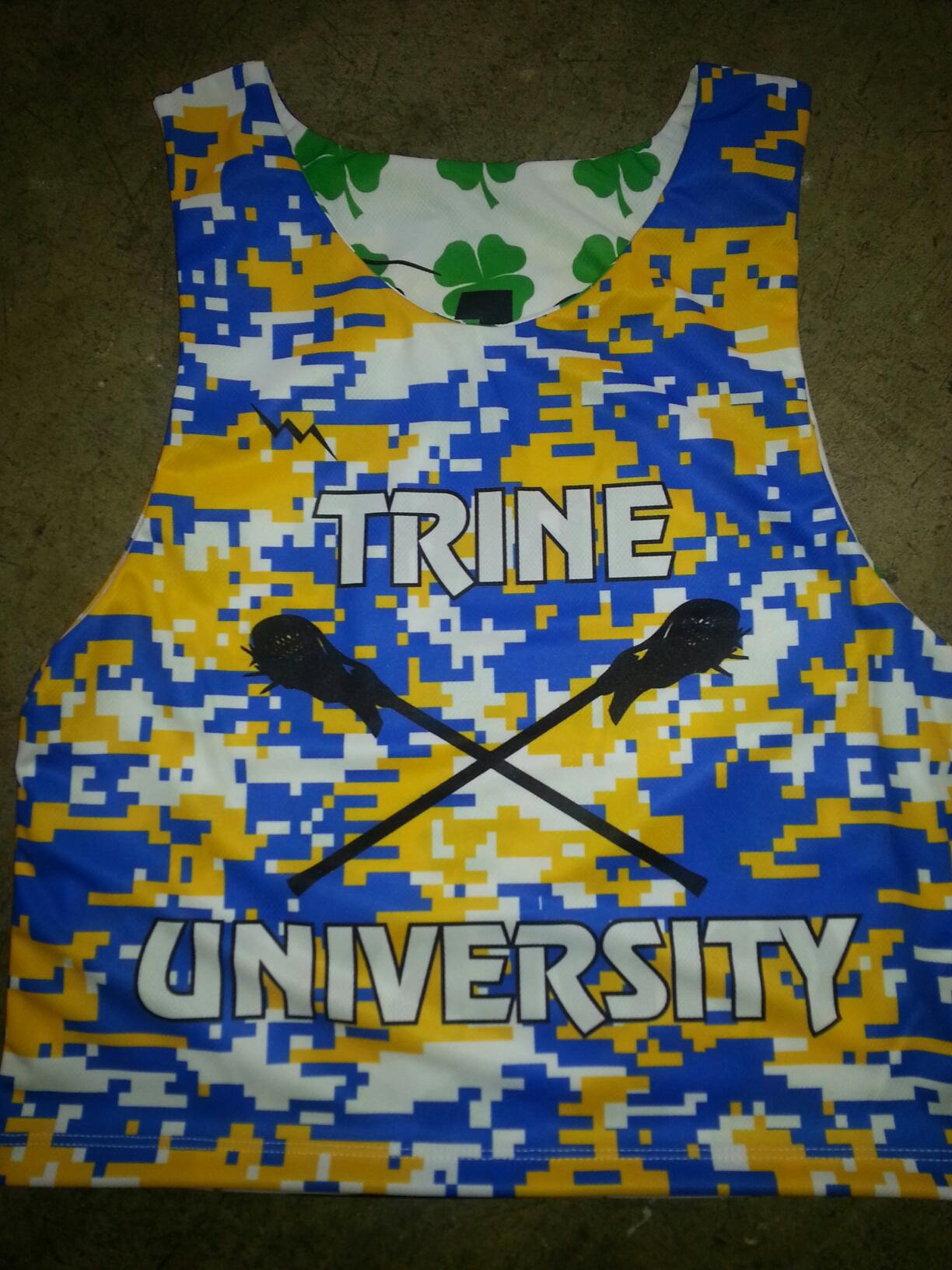 trine university lax pinnies digital camo