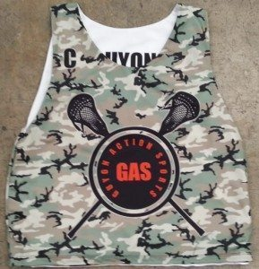 army camouflage lacrosse pinnies