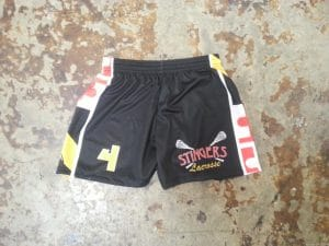 girls custom black lacrosse shorts