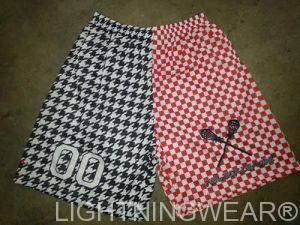 checker board lacrosse shorts