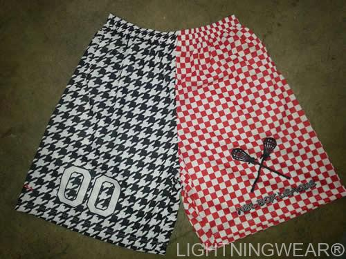 houndstooth lacrosse shorts - checkerboard