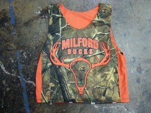 camouflage lacrosse pinnies orange