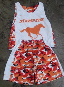 orange camouflage lacrosse uniforms