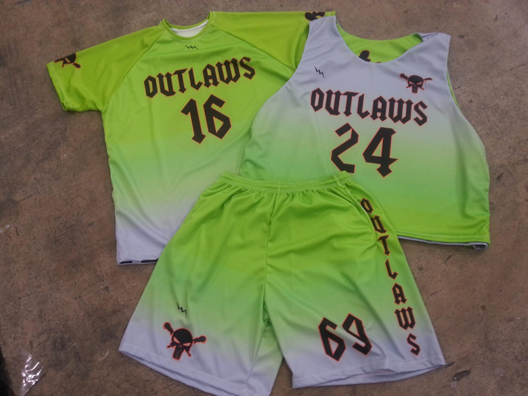 outlaws lacrosse uniforms