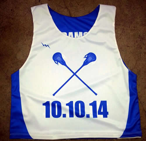 bar mitzvah lacrosse pinnies