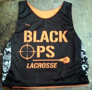 black ops lacrosse pinnies
