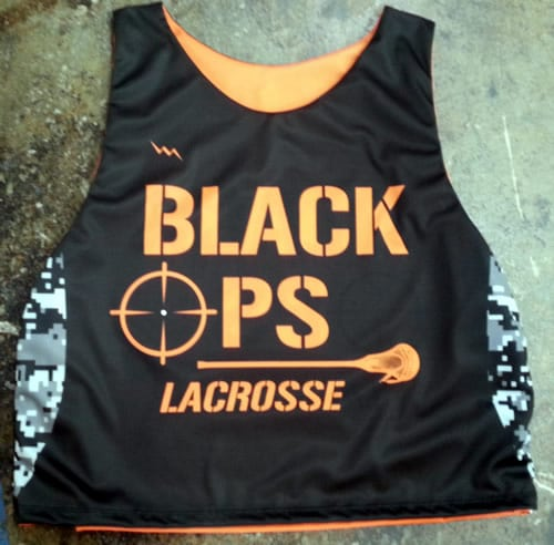 black ops lacrosse pinnies