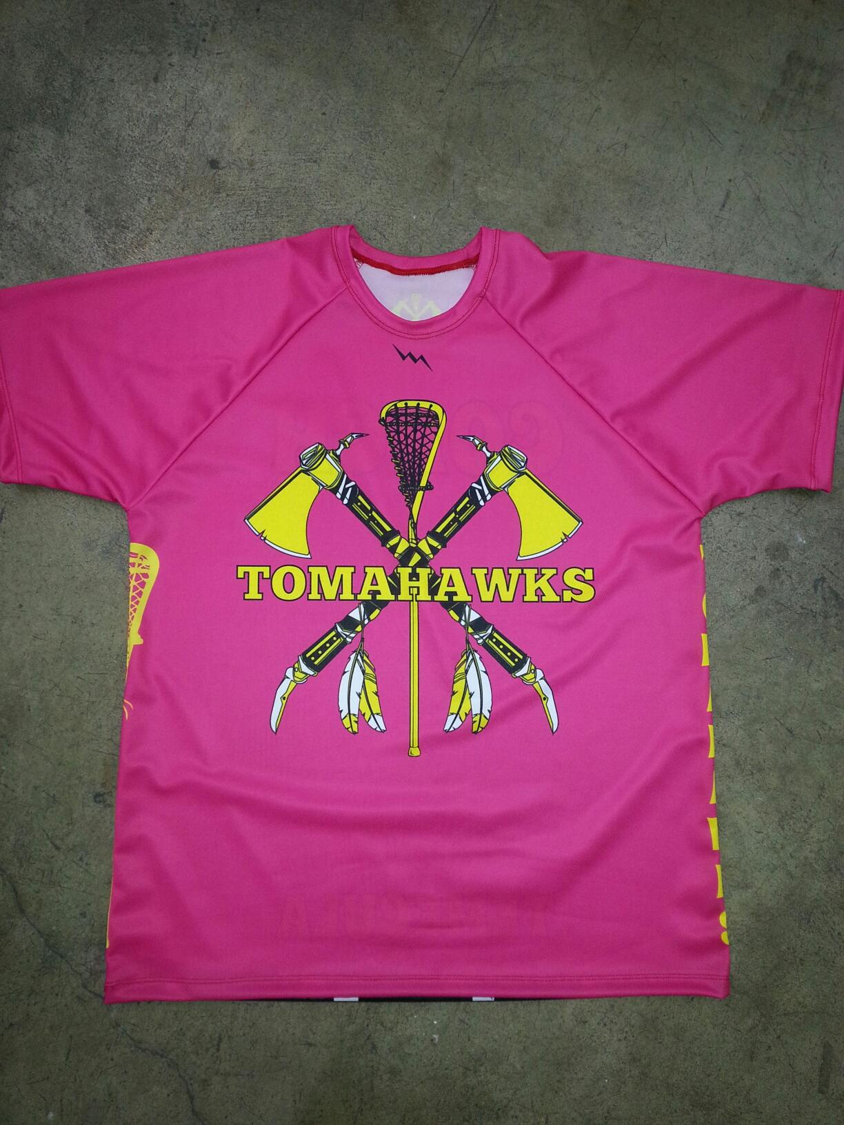 pink girls lacrosse shooter shirts