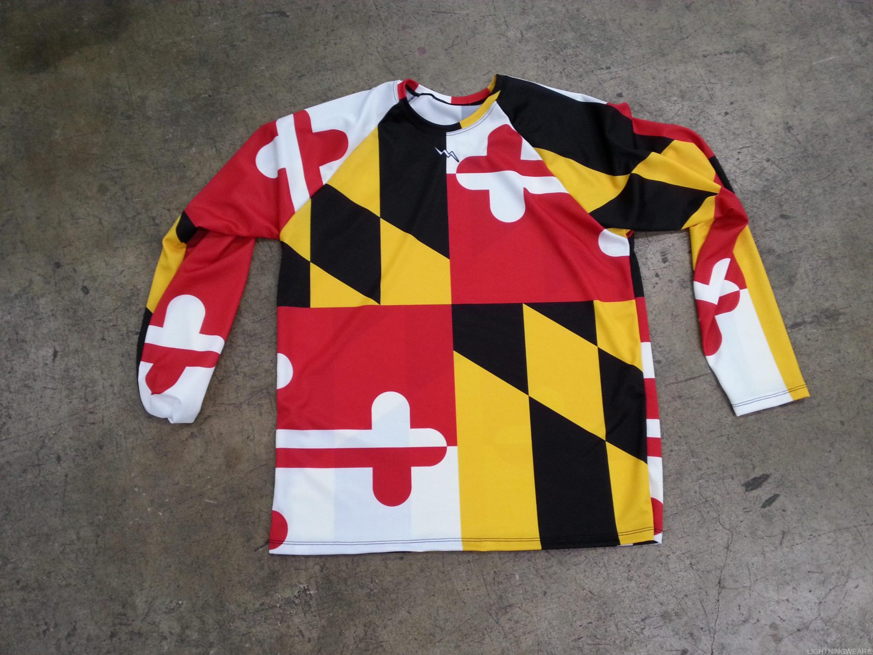Maryland flag long sleeve shirt