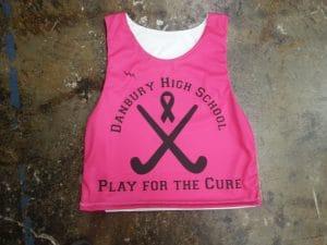 pink field hockey pinnies