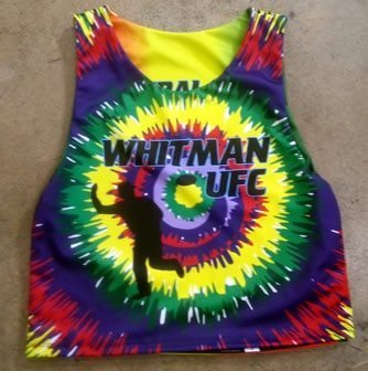 ultimate frisbee tie dye pinnies