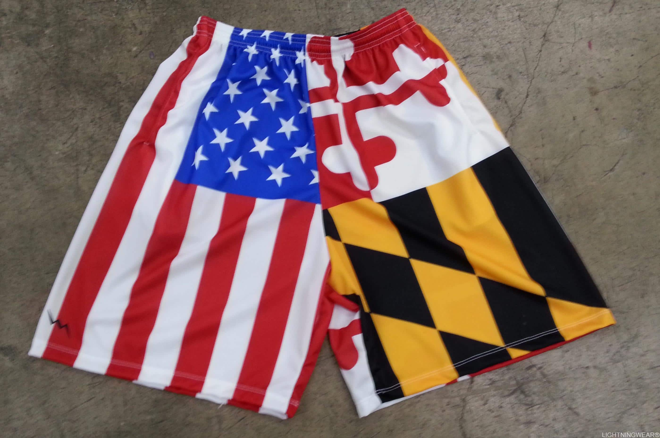 Maryland USA flag shorts