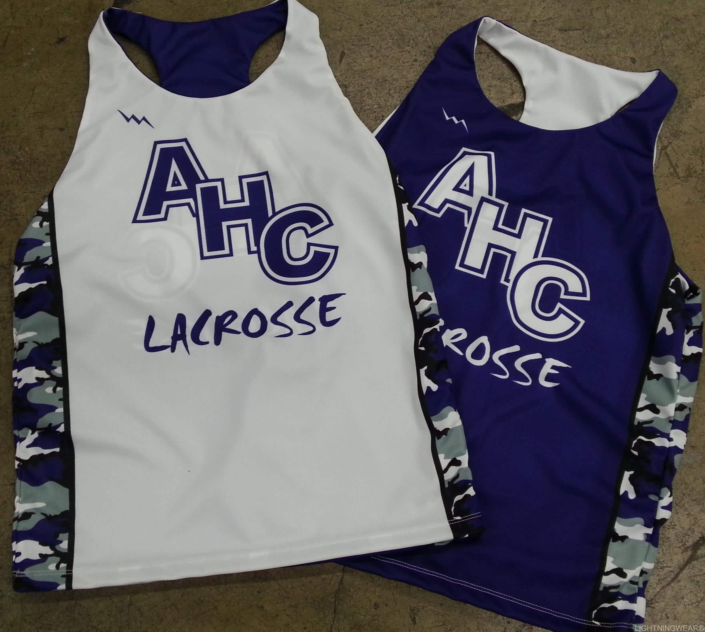 girls camouflage lacrosse uniforms