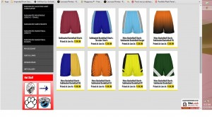 sublimated basketball shorts custom