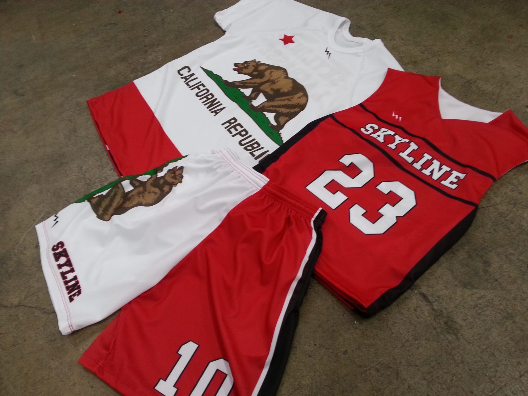 sublimated lacrosse gear