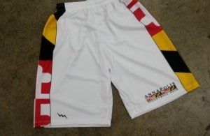 volleyball shorts sublimated