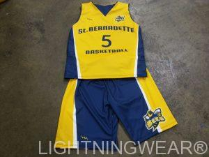 kids sublimated basketball uniforms