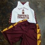 Maroon and Gold Basketball Uniforms