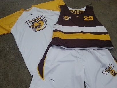 brown lacrosse uniforms