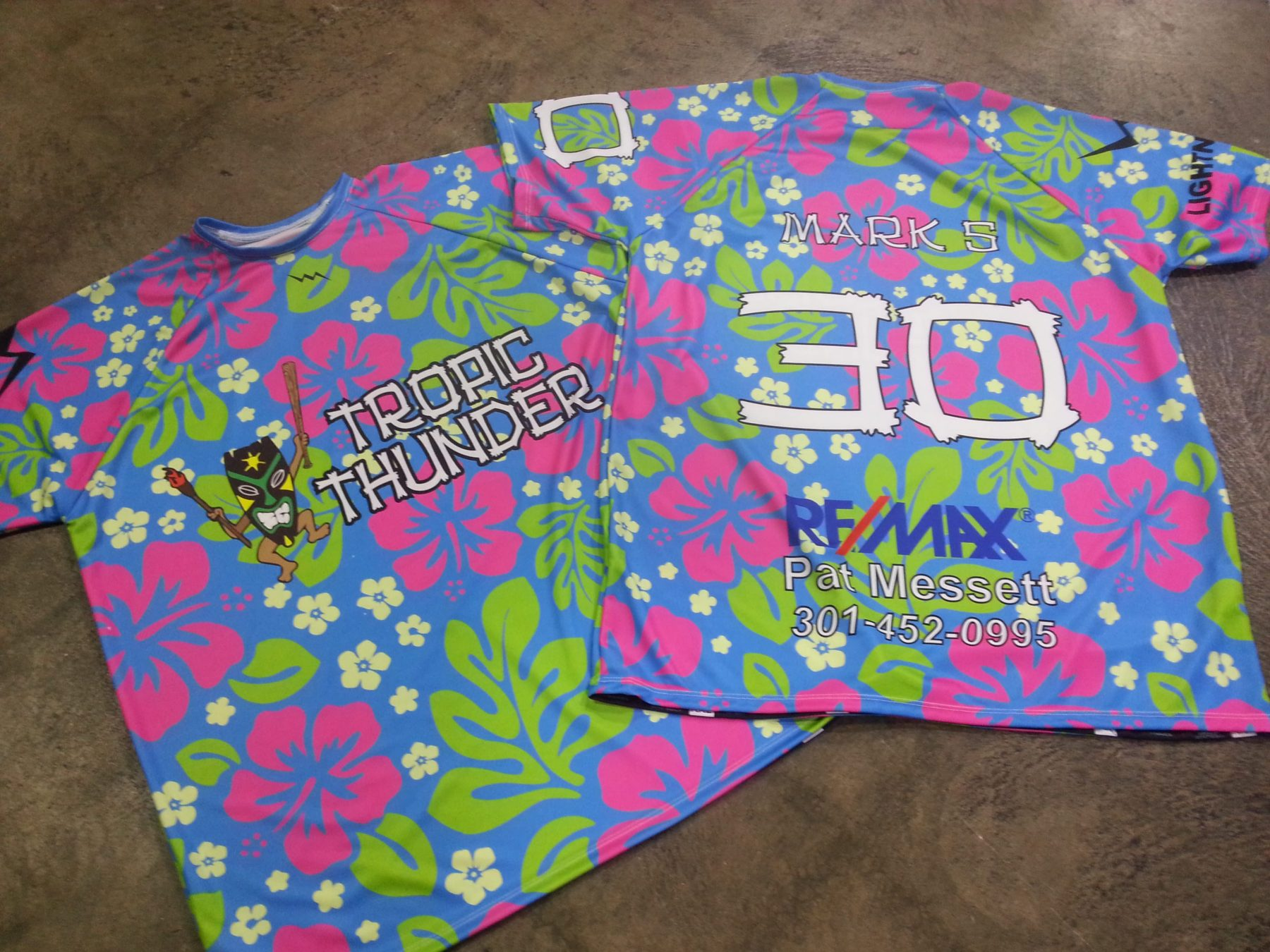 hawaiian softball shirts