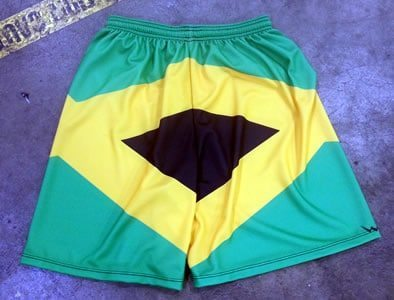 jamaica flag shorts