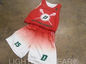 red lacrosse uniforms