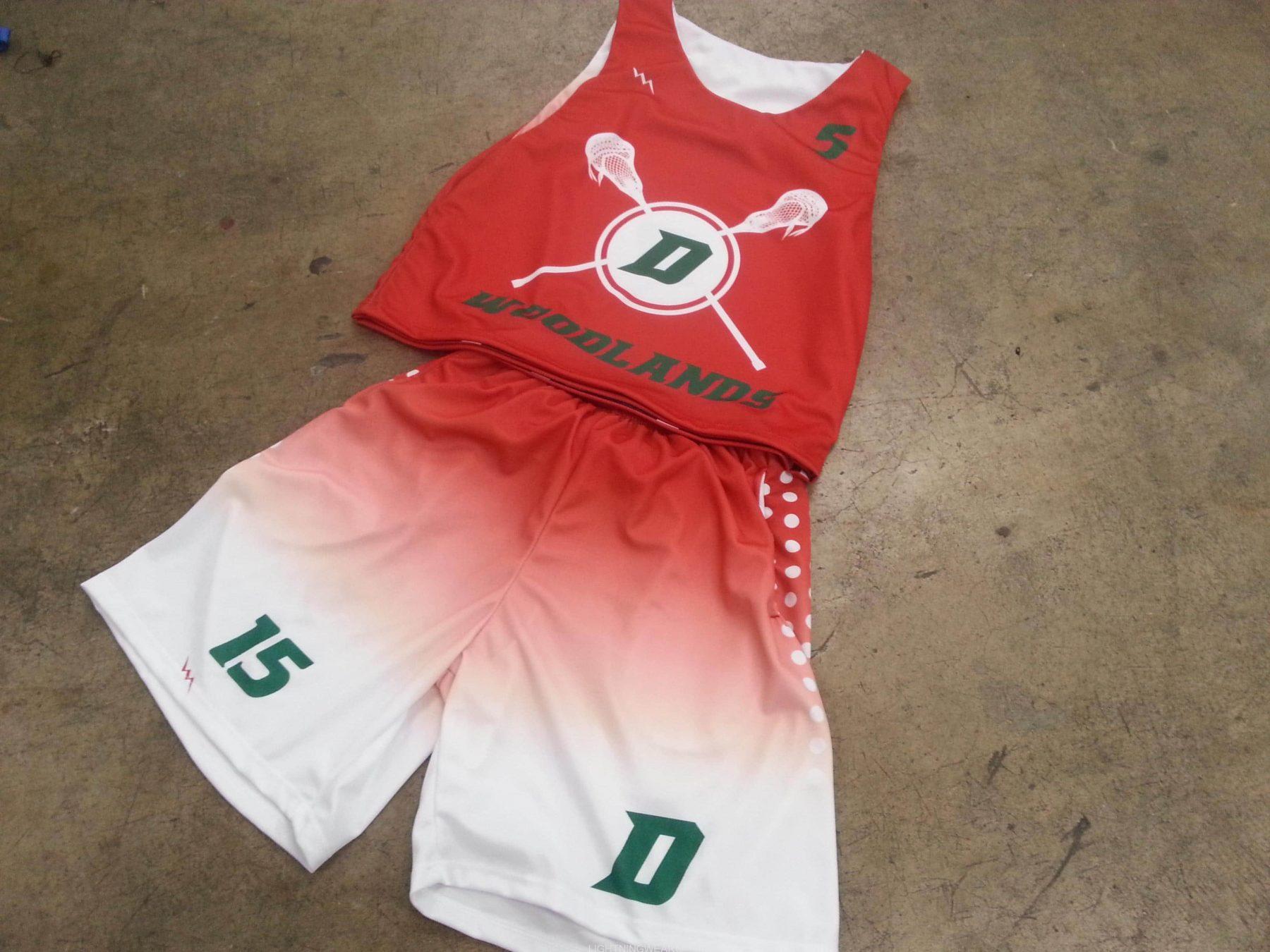 red lacrosse uniforms