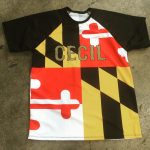 Softball Shirts Maryland Flag