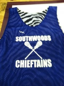 southwoods cheiftains pinnies