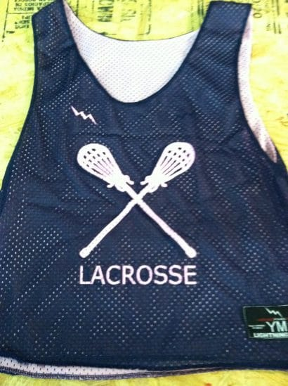 youth lacrosse pinnies