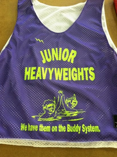 junior heavyweights pinnies