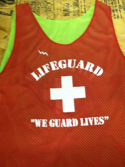 life guard pinnies