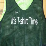 T-shirt time pinnies