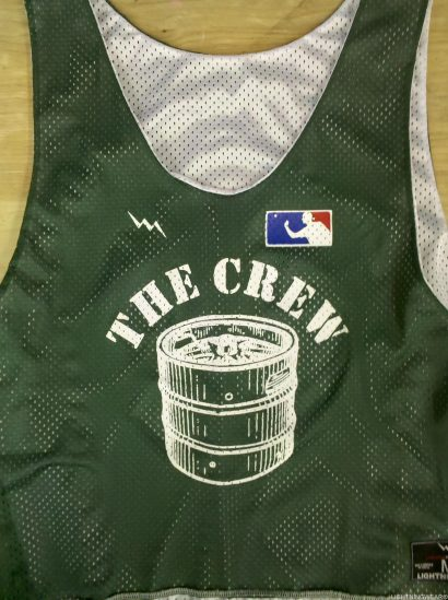 the crew pinnies