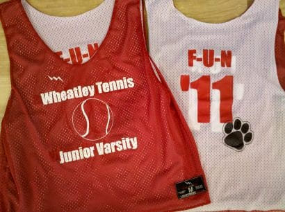 wheatley tennis pinnies