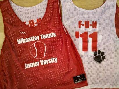 wheatley tennis pinnies