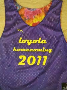 loyola homecoming pinnies