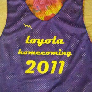 loyola homecoming pinnies