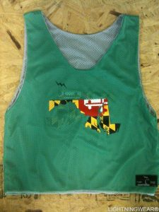 Maryland Flag Map Pinnies
