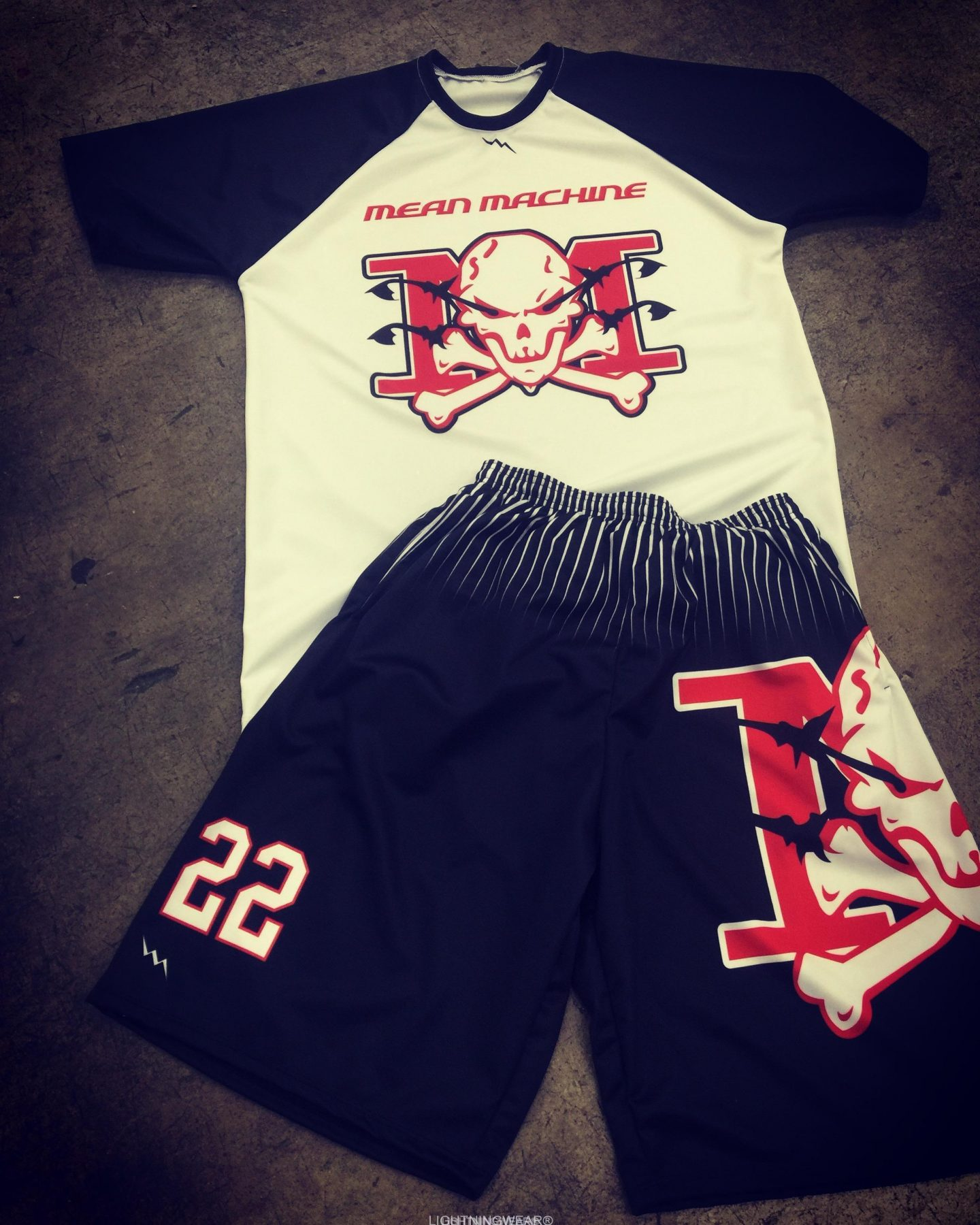 dye sublimated lacrosse shorts