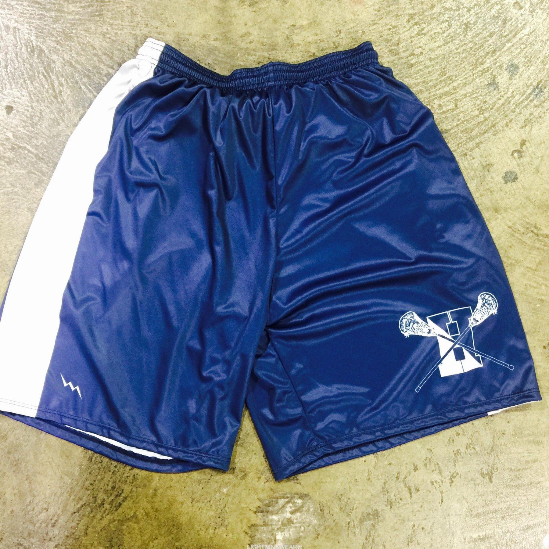 navy blue lacrosse shorts