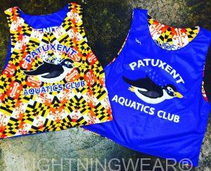 swim team reversible jerseys