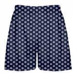 Blue Snowflake Lacrosse Shorts