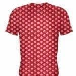 Red Short Sleeve Snowflake Shirts