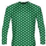 Green Snowflake Long Sleeve Shirts