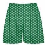 Green Snowflake Shorts