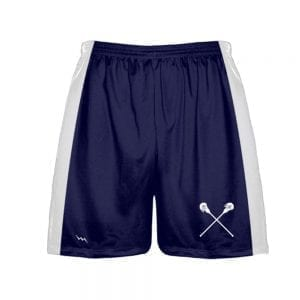 navy blue lacrosse shorts