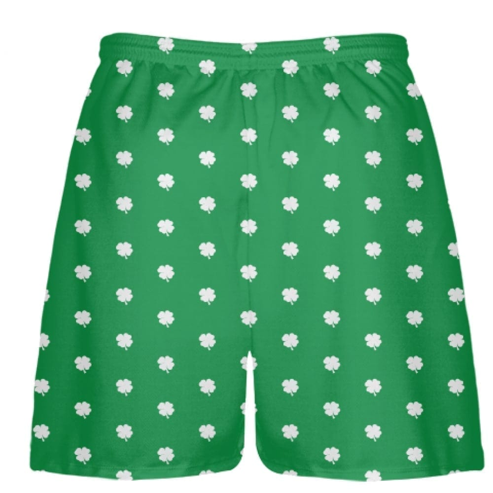 green shamrock shorts back