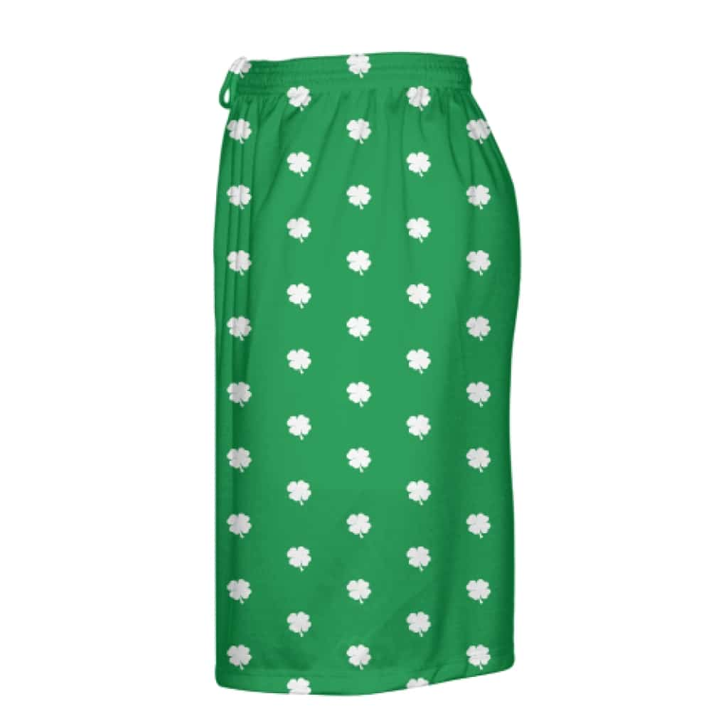 green shamrock shorts left